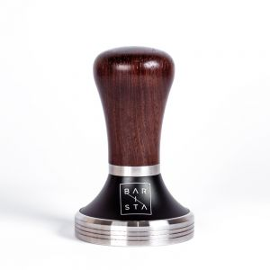 Monzo Wood Coffee Tamper with stainless steel base